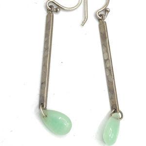 W3064 Silpada Sterling KEY LIME Earrings (b)